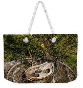 Palacios Texas Pulley Wire And Flowers Weekender Tote Bag