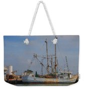 Palacios Texas Rhonda Kathleen In Port Weekender Tote Bag