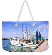 Palacios Texas Shrimp Boat Lineup Weekender Tote Bag