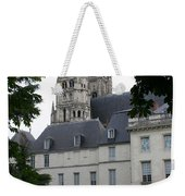 Palais In Tours With Cathedral Steeple Weekender Tote Bag
