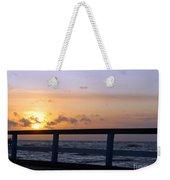 Palanga Sea Bridge At Sunset. Lithuania Weekender Tote Bag