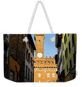 Palazzo Vecchio In Florence Italy Weekender Tote Bag