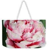 Pale And Dark Pink Peony Weekender Tote Bag