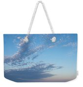 Pale Blues And Feathery Clouds In The Fading Light Weekender Tote Bag