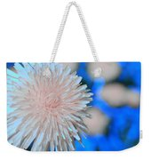 Pale Pink Bright Blue Weekender Tote Bag