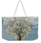 Pale White Tree On Cloudy Spring Day E83 Weekender Tote Bag