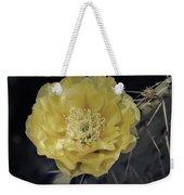 Pale Yellow Prickly Pear Bloom  Weekender Tote Bag
