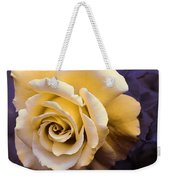 Pale Yellow Rose Weekender Tote Bag