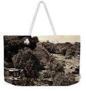 Palenque From The Jungle Panorama Sepia Weekender Tote Bag