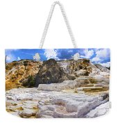 Palette Spring Terrace Panorama - Yellowstone National Park Wyoming Weekender Tote Bag