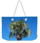 Palm Against Blue Sky Weekender Tote Bag