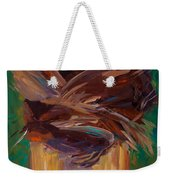 Palm Bark Weekender Tote Bag