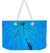 Palm Blue Weekender Tote Bag