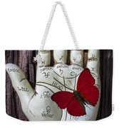 Palm Reading Hand And Butterfly Weekender Tote Bag
