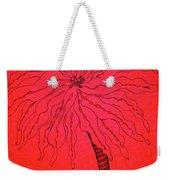 Palm Red Weekender Tote Bag