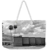 Palm Springs City Hall Bw Palm Springs Weekender Tote Bag