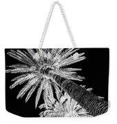 Palm Tree Black Weekender Tote Bag