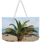 Palm Tree By The Beach Weekender Tote Bag