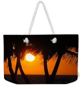 Palm Tree Silhouette At Sunset Weekender Tote Bag