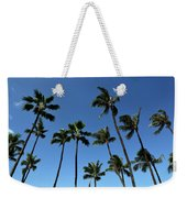 Palm Trees Against A Clear Blue Sky Weekender Tote Bag