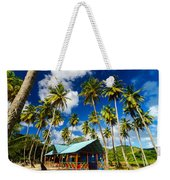 Palm Trees And Colorful Building Weekender Tote Bag