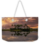 Palm Trees At Sunset Weekender Tote Bag