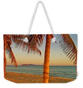 Palm Trees By A Restaurant On The Beach In Bahia Kino-sonora-mexico Weekender Tote Bag
