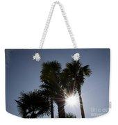 Palm Trees In Backlit Weekender Tote Bag