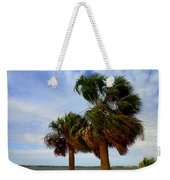 Palm Trees In The Wind Weekender Tote Bag
