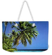 Palm Trees On Little Palm Island Filtered Weekender Tote Bag