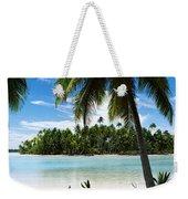 Palm Trees On The Beach, Rangiroa Weekender Tote Bag