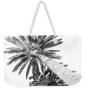 Palm Tree White Weekender Tote Bag