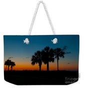 Palms At Clear Dawn Weekender Tote Bag