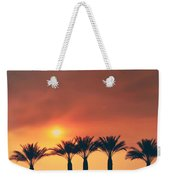 Palms On Fire Weekender Tote Bag by Laurie Search