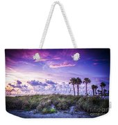 Palms On The Beach Weekender Tote Bag by Marvin Spates