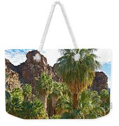 Palms Stand Tall In Andreas Canyon In Indian Canyons-ca Weekender Tote Bag