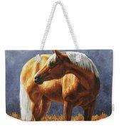 Palomino Horse - Gold Horse Meadow Weekender Tote Bag