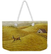 Palouse Farm Whitetail Deer Weekender Tote Bag by Crista Forest