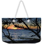 Pamlico Sound Through The Trees Weekender Tote Bag