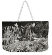 Panaca Sandstone Formations In Black And White Nevada Landscape Weekender Tote Bag