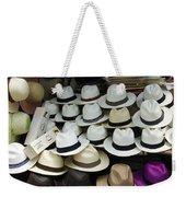 Panama Hats In Ecuador Weekender Tote Bag