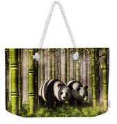 Pandas In A Bamboo Forest Weekender Tote Bag