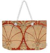 Panel Of Red Cut Velvet With Carnation Weekender Tote Bag