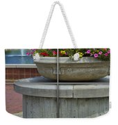 Sample Paneled Concrete Flower Pot Weekender Tote Bag