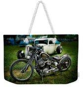 Panhead Harley And Ford Pickup Weekender Tote Bag