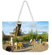 Panning For Gold In Chicken-ak- Weekender Tote Bag