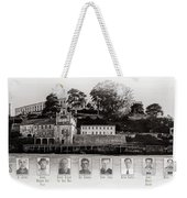 Panorama Alcatraz Infamous Inmates Black And White Weekender Tote Bag