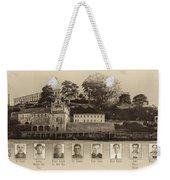 Panorama Alcatraz Infamous Inmates Sepia Weekender Tote Bag