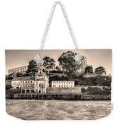 Panorama Alcatraz Shaky Sepia Weekender Tote Bag