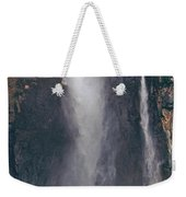 Panorama Angel Falls In Canaima National Park Venezuela Weekender Tote Bag